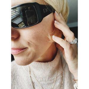 Donna Karan Black Sunglasses